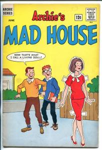 ARCHIE'S MAD HOUSE #33 1964-PAPER DOLL COVER SABRINA-CAPTAIN SPROCKET-vg