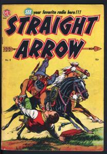 STRAIGHT ARROW #2-RED HAWK BY POWELL-1950-ME COMICS
