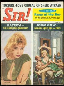 SIR! MAGAZINE AUG 1959-BRIGITTE BAUM-BATISTA-PIRATES- FN