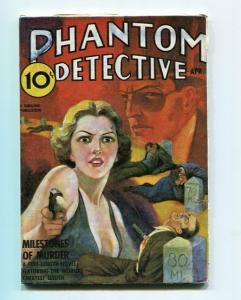 PHANTOM DETECTIVE-LIMITED EDITION-REPRODUCTION-APRIL 1938-MILESTONES OF MURDER