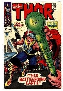 THOR #144 comic book 1967-JACK KIRBY-COLLETTA-MARVEL COMICS VF