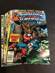 MARVEL LOT of 14-Captain America #248-250#252,256,257,262-265,267-269,271 (551J)