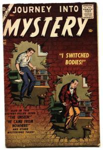 JOURNEY INTO MYSTERY #41 Joe Sinnott-1956-ATLAS-HORROR-SCI-FI- VG