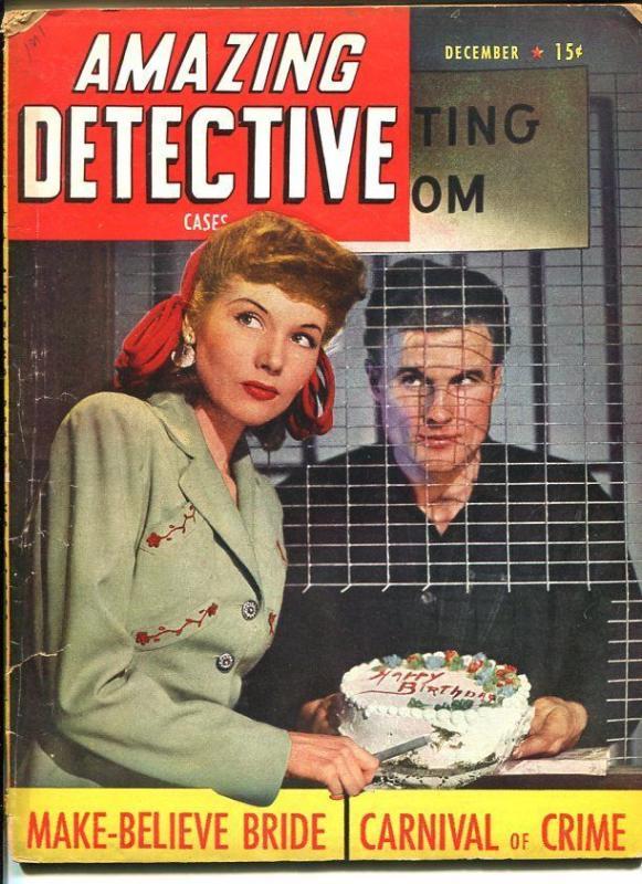 AMAZING DETECTIVE CASES-DEC 1944-VG-GOOD GIRL ART-MURDER-RAPE-AXE- VG