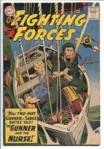 OUR FIGHTING FORCES #53-1959-DC-SILVER AGE-NURSE-GUNNER & SARGE-KUBERT-HEATH-vg