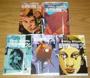100% #1-5 VF/NM complete series PAUL POPE vertigo comics set 2 3 4 future story