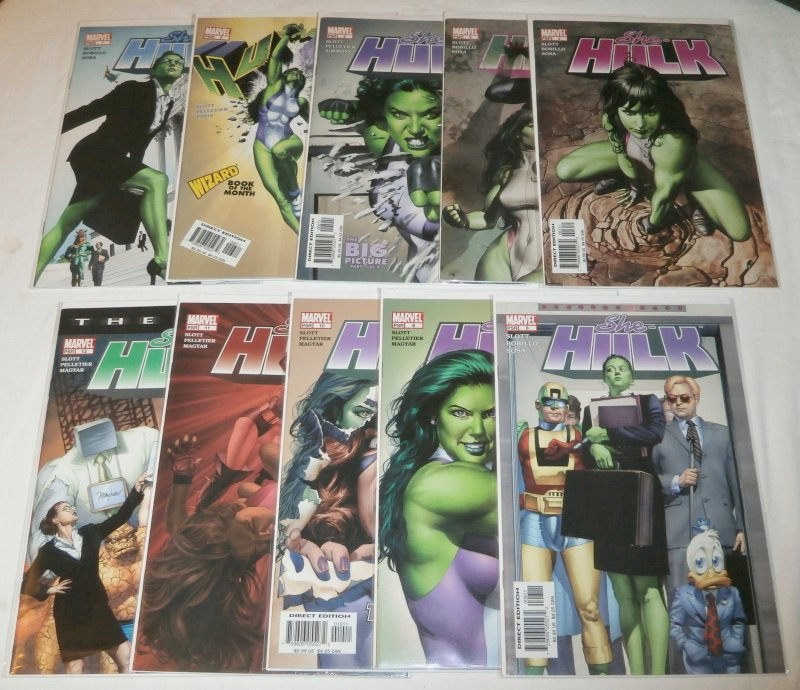 She-Hulk (vol. 1, 2004) #3-12 (set of 10) Slott/Bobillo/Pelletier, Mayhew covers