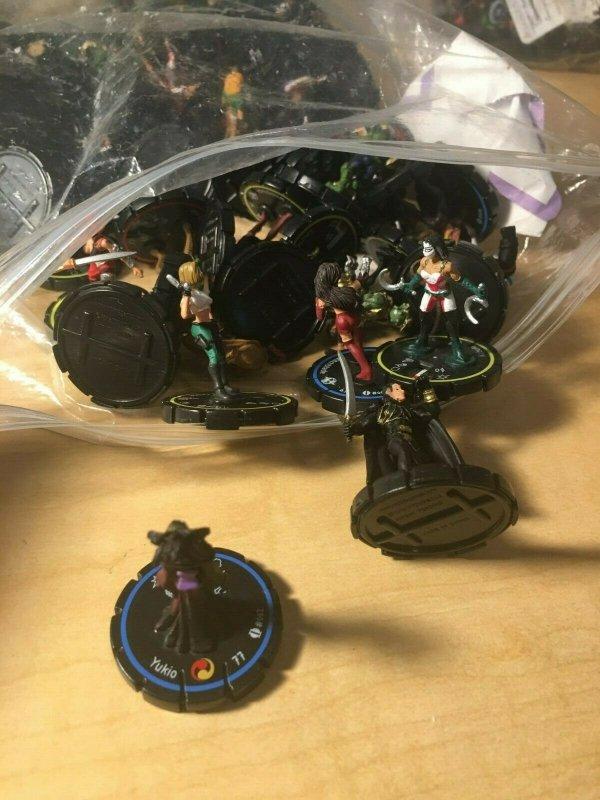 Lot of 80 INDY Heroclix Dial Figures Judge Hersley Tomoe Gargolye Game MFT4