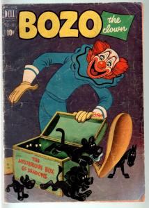 BOZO THE CLOWN #3-DELL-1951-THE MYSTERIOUS BOX OF SHADOWS-CIRCUS HUMOR !! G
