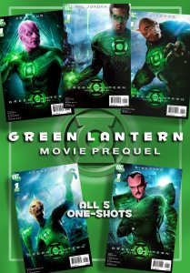 The Whole Set of 5!!  GREEN LANTERN MOVIE PREQUEL #1 One-Shots (2011) 9.0VF/NM
