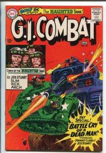 G.I. COMBAT #116 1966-DC-JOE KUBERT COVER- HAUNTED TANK STORY-vf