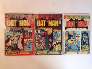 Batman 257 4.0 259 3.0 261 4.0 Lot Set Run