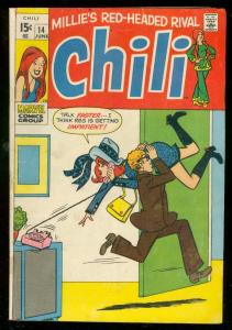 CHILI #14 1970-MARVEL COMICS-MILLIE'S RED HEADED RIVAL VG