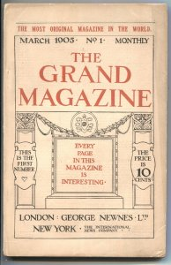 GRAND MAGAZINE #1-MAR 1905--ARTHUR CONAN DOYLE--1ST ISSUE-PULP-RARE