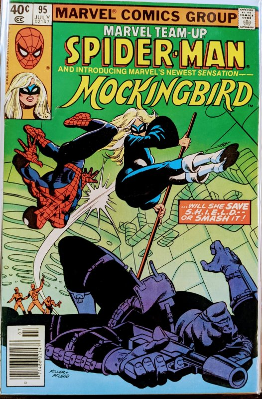 Marvel Team-Up #95 (1980) SPIDER-MAN AND MOCKINGBIRD. KEY! NM++++