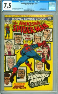 Amazing Spider-Man #121 CGC Graded 7.5 Death of Gwen Stacy