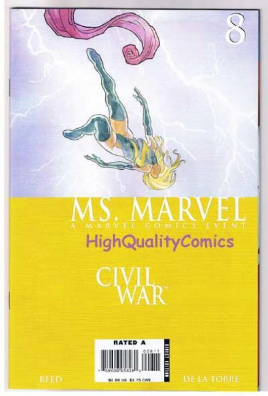 MS MARVEL #8, VF/NM, Palmiotti, Femme Fatale, Civil War, 2006, more in store
