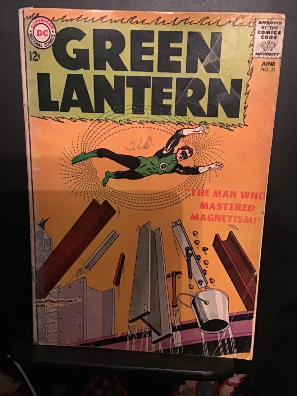 Green Lantern #21 (1963) Affordable-grade Origin and 1st Doctor Polaris!  VG-