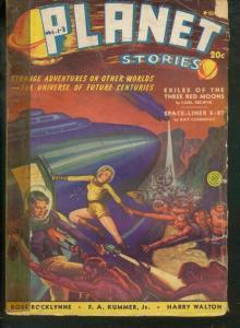 PLANET STORIES #3 FICTION HOUSE PULP 1940 SUM SCI FI G/VG