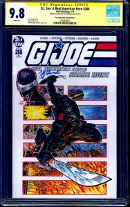 G.I. Joe #266 VARIANT CGC SS 9.8 signed ORIGINAL signed Snake Eyes Sketch NM/MT