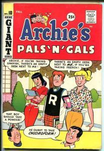 ARCHIE'S PALS N GALS #10-BETTY-VERONICA-1959-fine