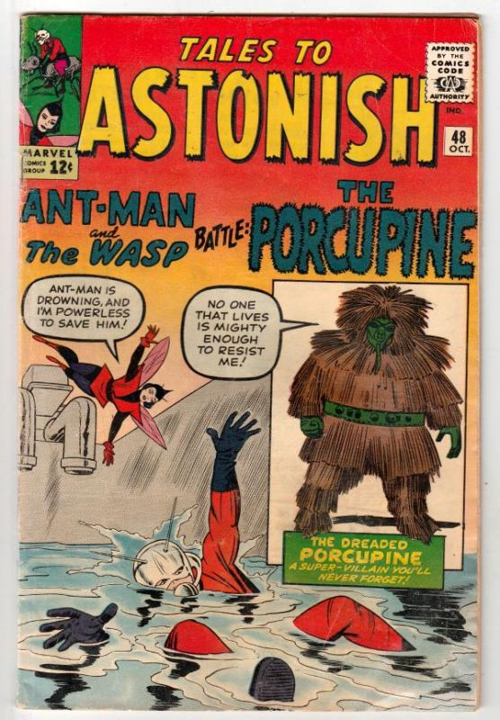 Tales to Astonish #48 (Oct-63) FN Mid-Grade Ant-Man, the Wasp