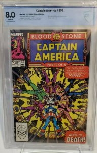 Captain Amerca #359 - CBCS 8.0 - White Pages - 1st Crossbones (Cameo)