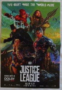 JUSTICE LEAGUE  Promo Poster , 11 x 17,  2017, DC, FLASH, WONDERWOMAN Unused 092
