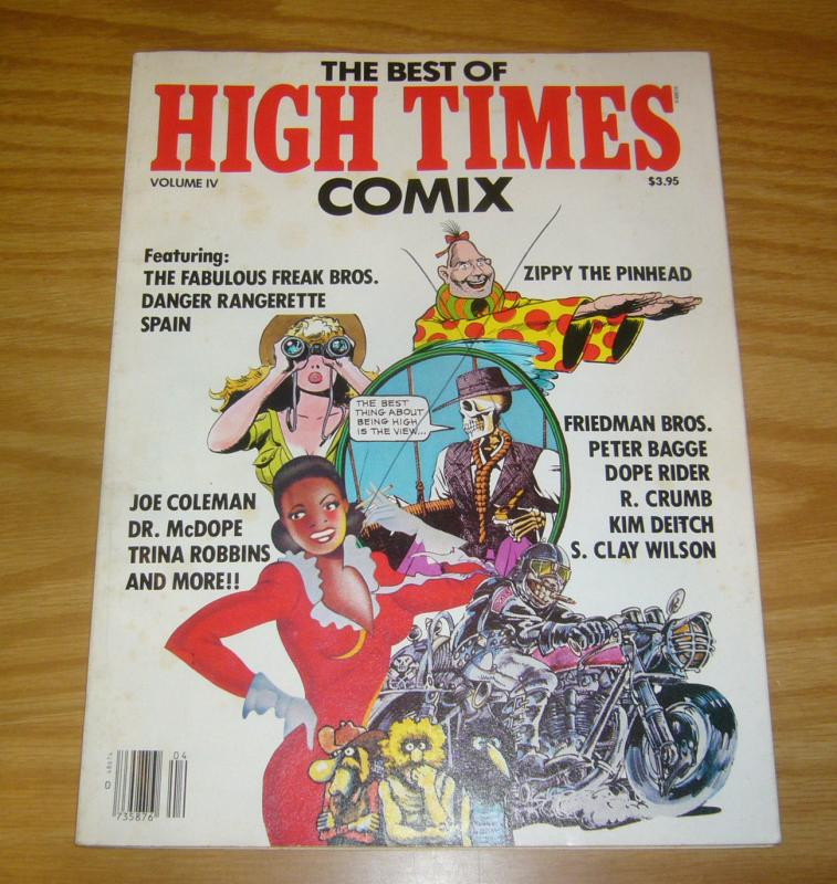 Best of High Times Comix #4 FN robert crumb - bagge - shelton - spain - trina