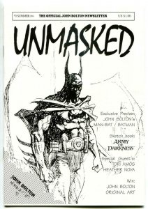 UNMASKED #0, NM, John Bolton Newsletter, Army of Darkness, Batman, 1994