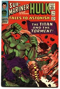 TALES TO ASTONISH #79-HULK/SUB-MARINER-1966 HIGH GRADE vf-