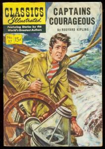 CLASSICS ILLUSTRATED #117 HRN 118-CAPTAIN COURAGEOUS VG/FN