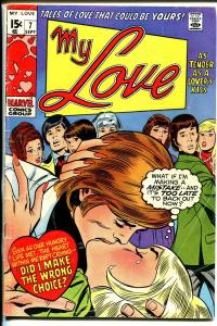 My Love #7 1970-Marvel-Dick Ayers-John Buscema-lip lock cover-VG