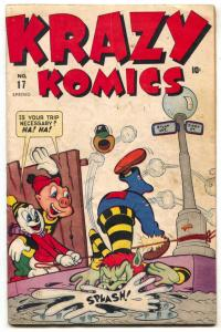 Krazy Comics #17 1945- CREEPER- Timely Funny Animals VG-
