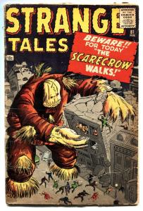 STRANGE TALES #81 comic book-1961-MARVEL-KIRBY & DITKO-SCARECROW