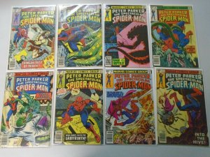 Spectacular Spider-Man lot 16 40c covers from #30-45 avg 5.0 VG FN (1979-80)