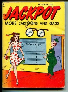 Jackpot 10/1950-Youthful Mags-jokes-spicy cartoons-rare issue-VG