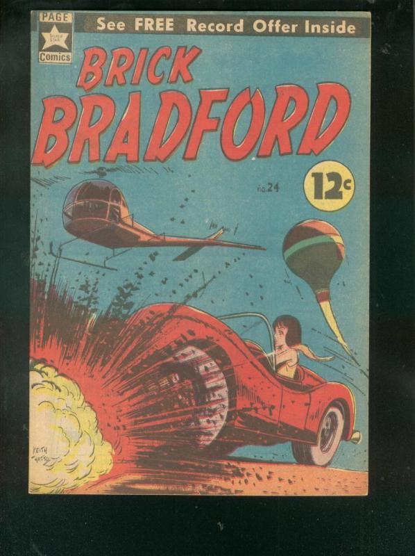 BRICK BRADFORD #24 1966-AUSTRALIAN  SCI-FI COMIC BOOK   VF