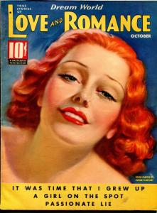 Dream World Love and Romance 10/1936-pin-up girl cover-Tchetchet-spicy-exotic-FN