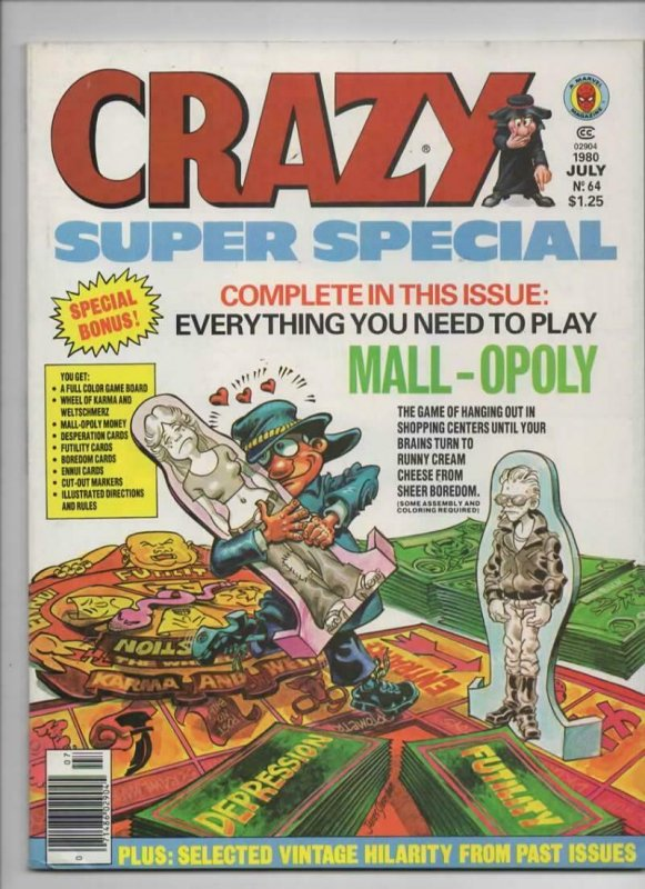 CRAZY #64 Magazine, VF, Monopoly, Super Special, 1973 1980, more in store