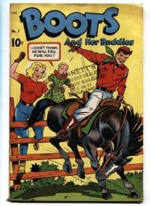 Boots and Her Buddies #7 comic book 1949-Golden Age- Spanking panel