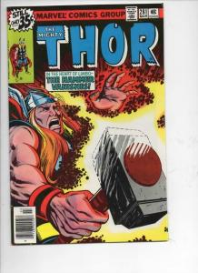 THOR #281 NM- God of Thunder Hammer Lost 1966 1979, more Thor in store