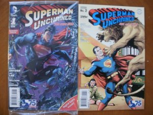 2 Near-Mint DC Comic: SEALED Combo-Pack SUPERMAN UNCHAINED #1 + #2 (Snyder Lee)