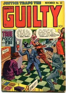 JUSTICE TRAPS THE GUILTY #32 SHOPLIFT COVER 1951 CRIME VG/FN