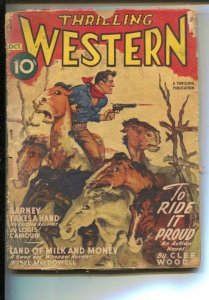 Thrilling Western Pulp 10/1946-Stampede cover-Barney Takes A Hand by Louis ...
