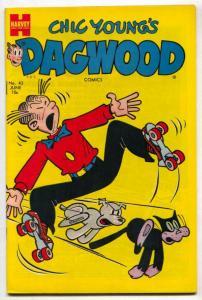 Dagwood #43 1954- rollerskate cover VF+