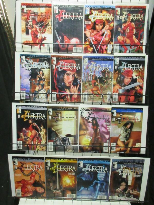 ELEKTRA   1-35  complete series! Bendis & Chuck Austen