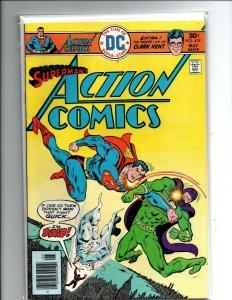 Action Comics #459 newsstand - Superman - 1976 - Fine/Very Fine