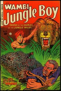 Wambi Jungle Boy #10 1950- Golden Age-Fiction House Elephant cover VF+