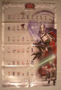 STAR WARS MINIATURES Promo Poster, 22x34, 2009, Unused, more in our